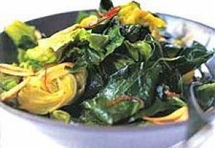 Chiligrønt med sprø hvitløk
