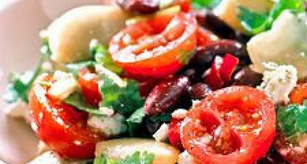 Tomat- og bønnesalat