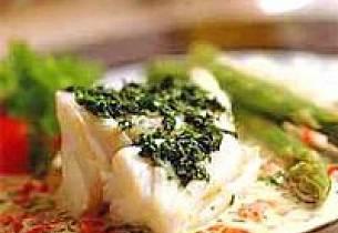 Marinert kveite med asparges