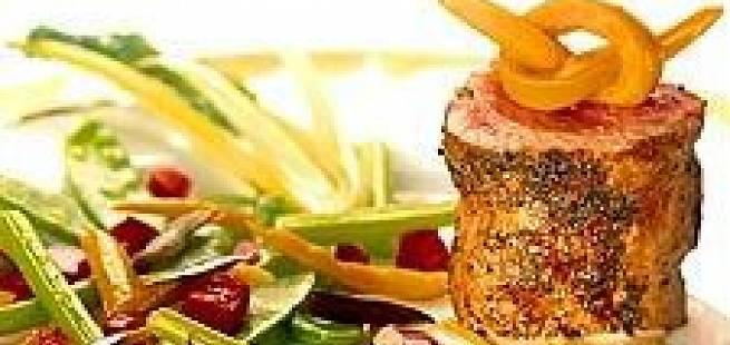Helstekt kalvefilet med stekte poteter