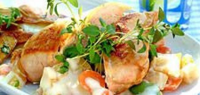 Kyllingfilet på rotgrønnsaker