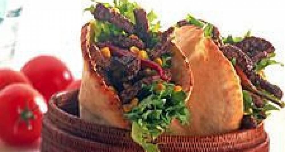 Pitabrød med kreolsk smak