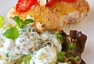 Ovnsbakte kyllingfileter med sennep og tomat