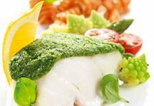 Saltbakt uer med potetmos og trøffelbrokkoli