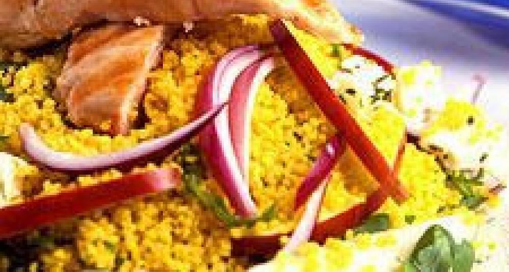 Couscous-salat med kylling og rucola