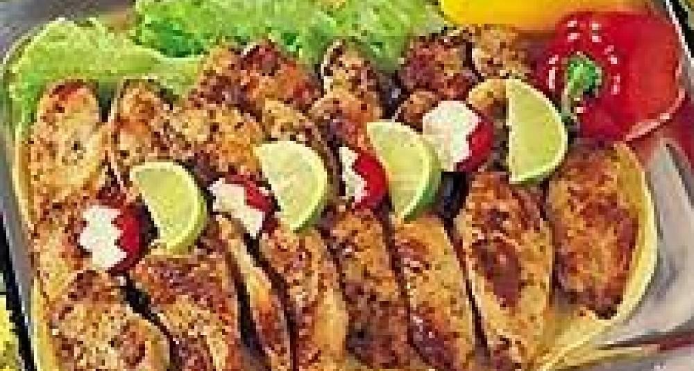 Tortillas med mexicansk kyllingfyll