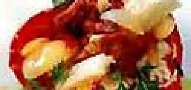Paprika fylt med tørrfisk
