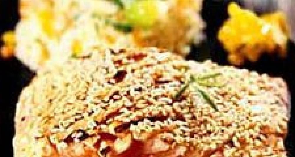 Sesamørret på spinatseng