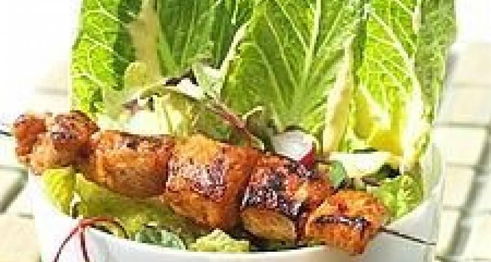 Kyllingspyd med mangochutney