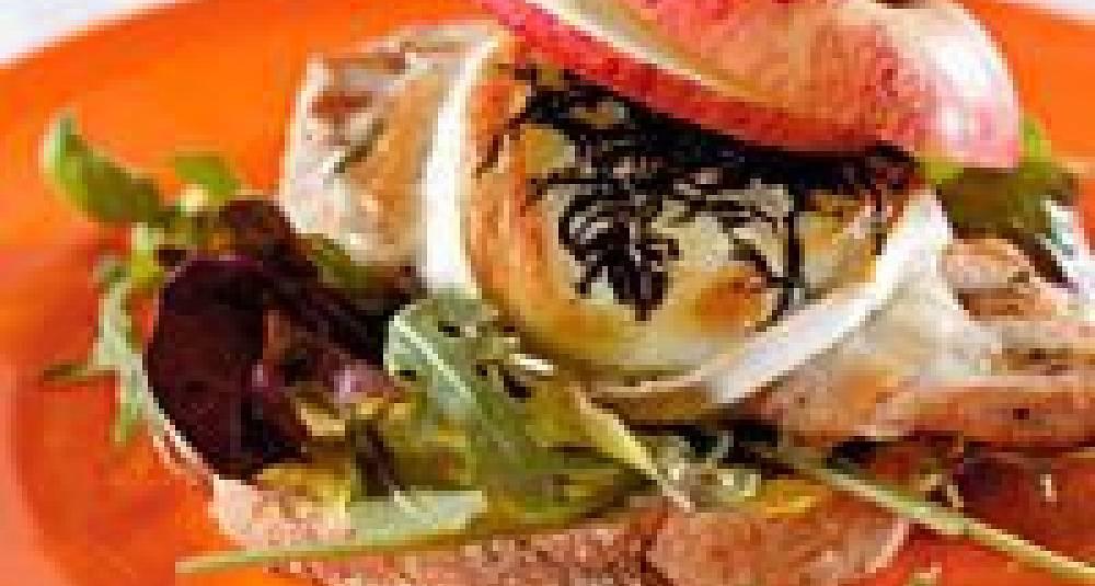 Kalkunsandwich med chevre og Sweet Curry