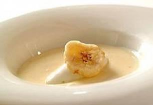 Yoghurtsuppe med limesorbet