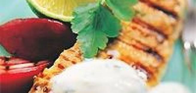 Skinkebiff med kinakål og pesto
