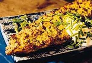 Kamskjellgratinert makrell