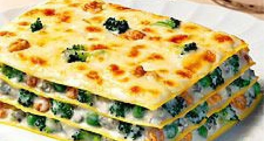 Lasagne med gorgonzola og valnøtter