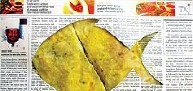 Flyndre på avispapir - Paperwali machchi