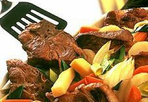 Thaimarinerte svinekoteletter