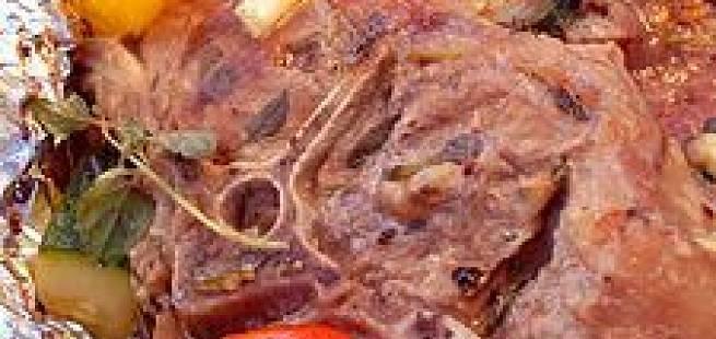 Foliebakte lammekoteletter