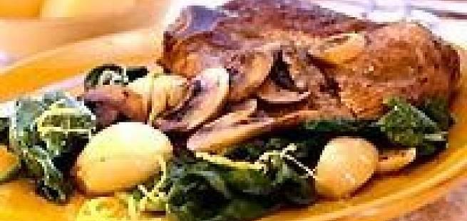 Fylt utbenet lammekjøtt