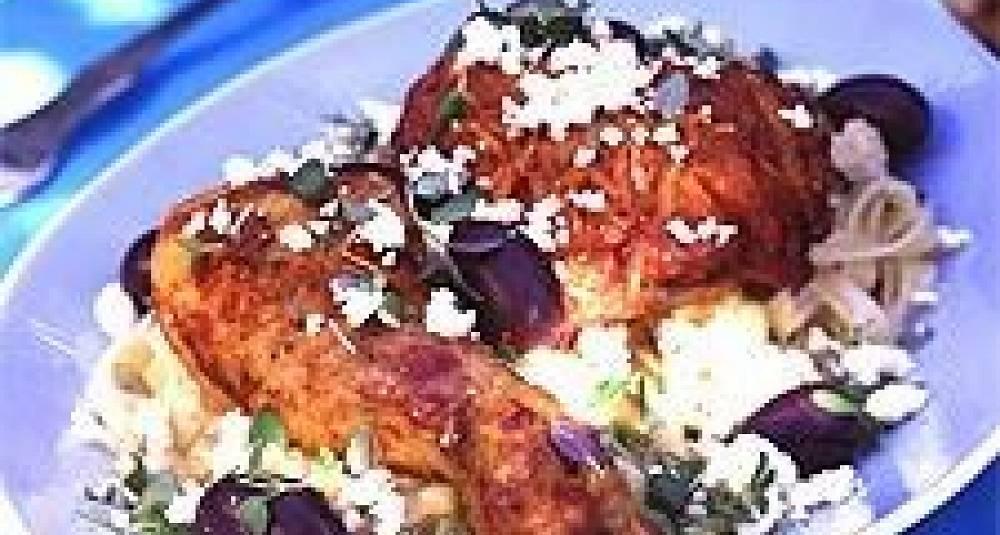 Gresk kylling med oliven og fetaost