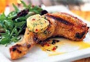 Grillede kyllinglår