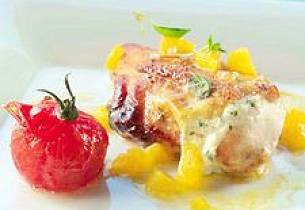 Kyllingbryst med appelsin og basilikum