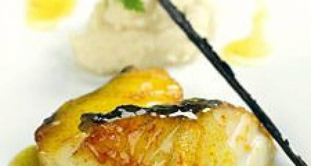 Vaniljestekt torsk med jordskokkpuré