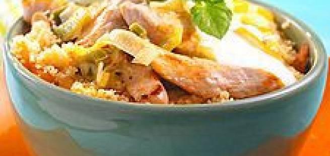Kylling med eplecouscous
