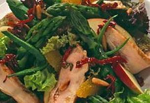 Kylling- og aspargestallerken