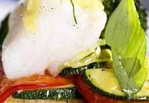 Torsk og grønnsaker i form