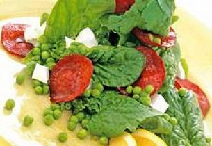 Spekemat med spinat og fetaost