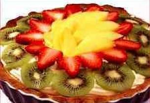 Pai med vaniljekrem og bær