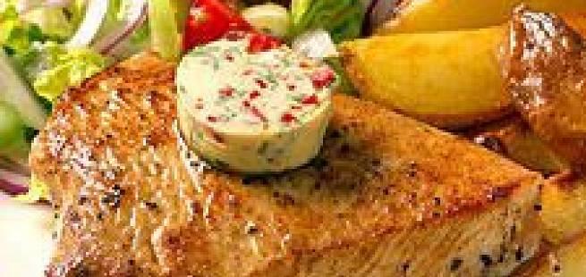 Kalkunbiff med kryddersmør
