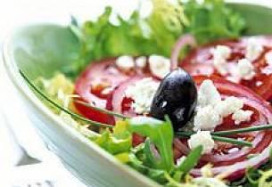 Salat med spekeskinke og skjørost