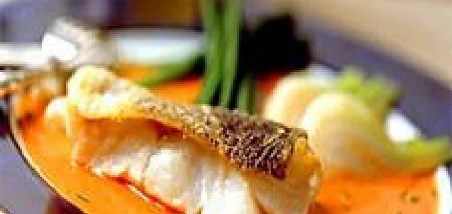 Skrei med fennikel og paprikasaus