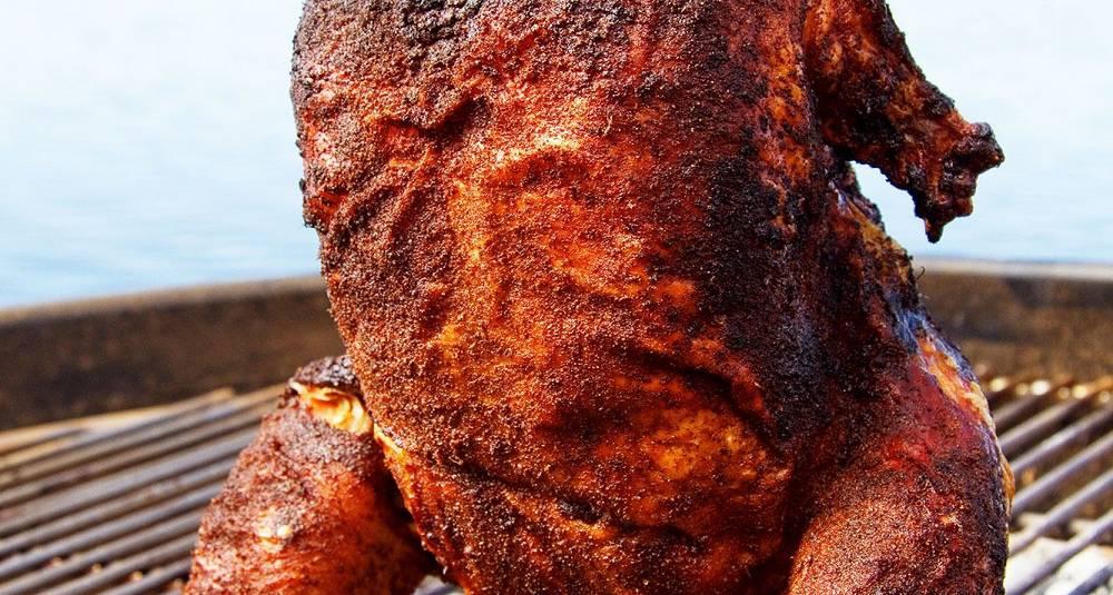 Kylling på boks - Øldampet kylling på grillen