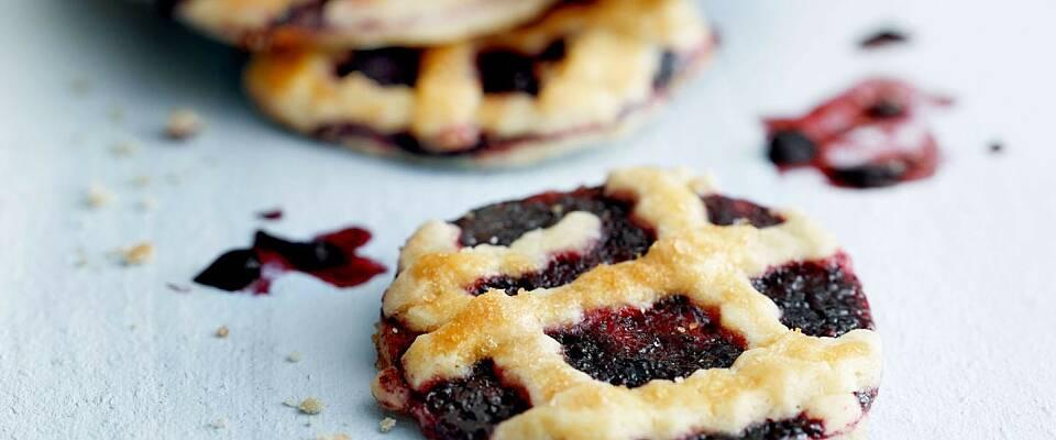 Se så lekre cookies med blåbær blir