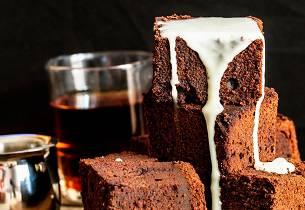 Brownie med mørkt øl