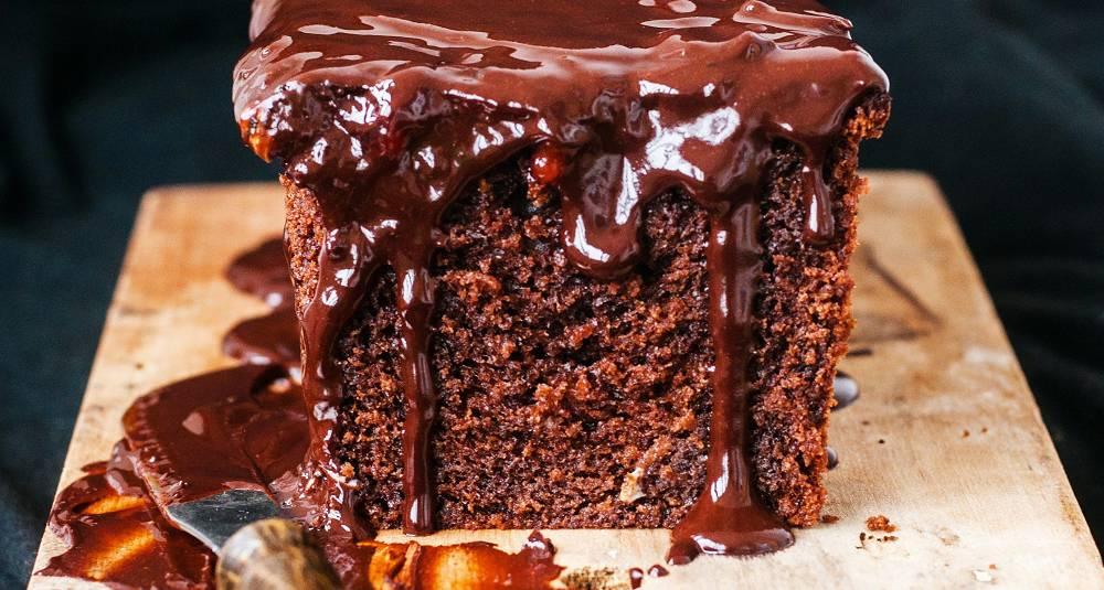 Sjokoladekake med rødvinsglasur