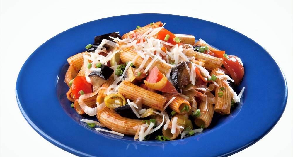 Penne-pasta med aubergine
