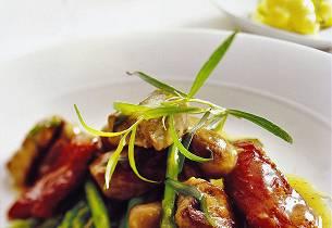 Kalvesauté med aspargesbønner