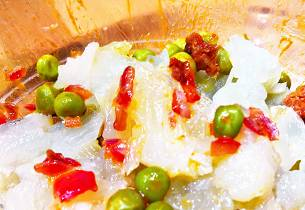 Snack på en lutefiskrest