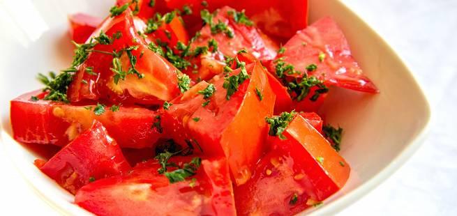Egyptisk tomatsalat