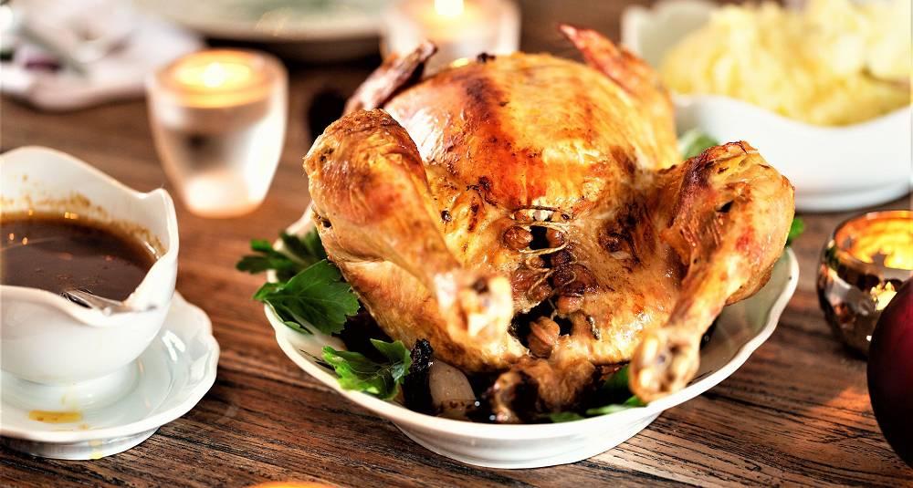 Helstekt kylling med vermutsaus