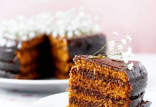 Mokka fudge-kake