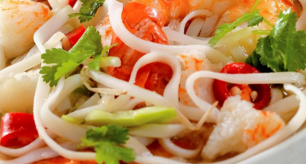 Chow Mein med skalldyr