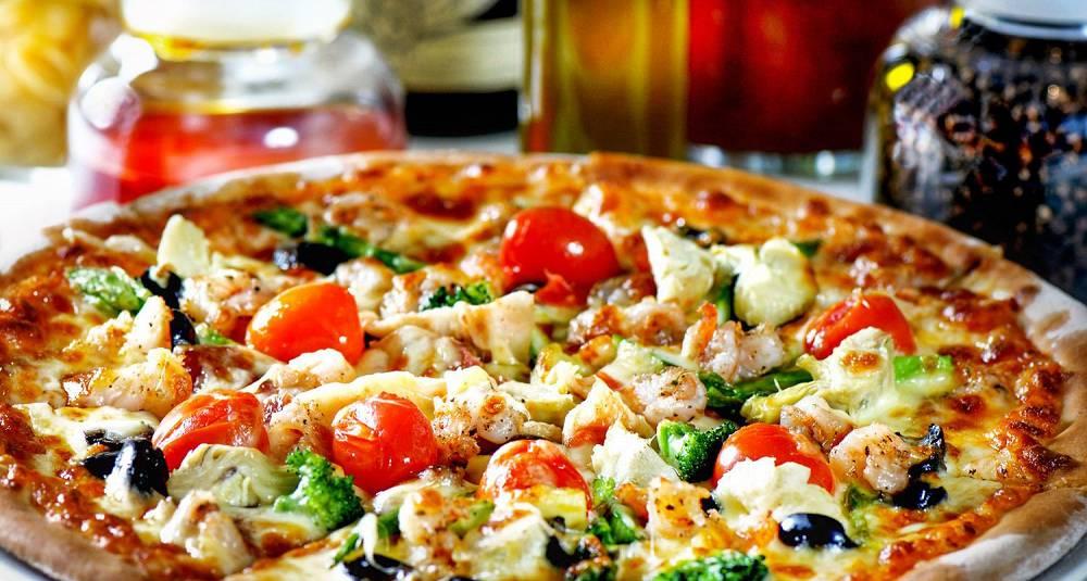 Pizza fire årstider II