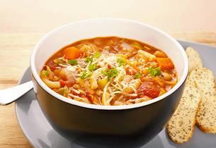 Italiensk minestronesuppe