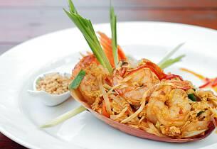 Ekte gatemat fra Thailand