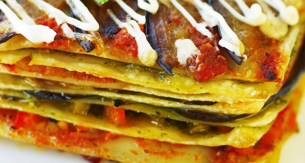 Lasagne med pesto og brokkoli