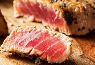 Stekt tunfisk